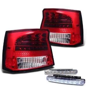 Eautolights 06 08 Dodge Charger LED Tail Lights + LED Bumper Fog Lamp