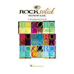 Hal Leonard Rock Solid Book & CD (Tenor Sax) Musical