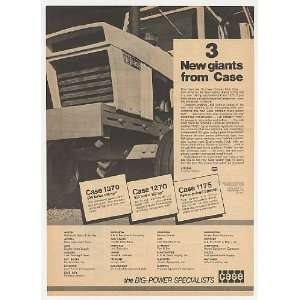 1972 Case 1370 Tractor New Giant Michigan Dealers Print Ad