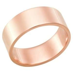 18Kt Rose Gold Heavy Wedding Band Ring in 7.0 Millimeters
