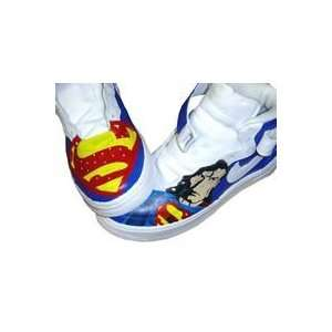 Painted Cartoon Nike Big Kids Air Force One Low Top (White/Superman