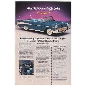 1989 Danbury Mint 1957 Chevy Bel Air Print Ad (9783): Home