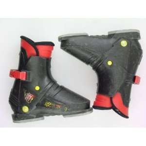 Used Nordica 127 Rear Entry Black Ski Boots Teen Size 6.5