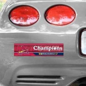 St. Louis Cardinals 2011 World Series Champions 3x12