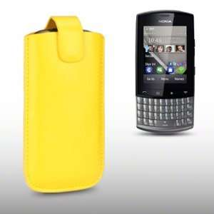 NOKIA ASHA 303 PU LEATHER CASE, BY CELLAPOD CASES YELLOW