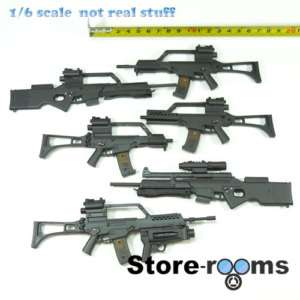 B04 09 1/6 Scale Assault Rifle Set VERY HOT TOYS CITY