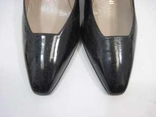 RENE MANCINI Black Patent Leather Pumps Heels Shoes 9