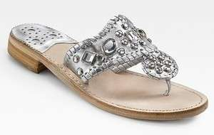 Jack Rogers Zsa Zsa Gold Thong Sandals Size 6