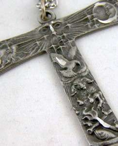 Silverplate Saint St. Francis Franciscan Tau Cross NR!