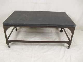 Industrial Metal Frame Slate Top Coffee Table (0093)*.
