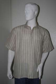 ALBERT NIPON Mens Vtg Short Sleeve Shirt Sz L