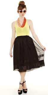 Vtg 80s black SHEER High waist FULL draped STRIPE print boho dress