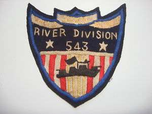 Vietnam War US Navy RIVER DIVISION 543 Hand Sewn Patch