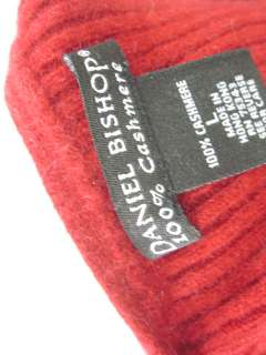 DANIEL BISHOP Red Cashmere Ribbed Sweater Sz L
