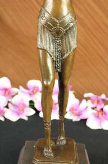 Signed Chiparus Persian Dancer Art Deco Bronze Statue Sculpture