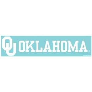 University Of Oklahoma die cut decal 4x17