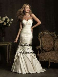 White/Ivory Wedding Bridal Gown Prom Evening Dress US Szie 2,4,6,8,10