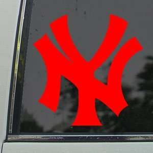 NEW YORK YANKEES Red Decal NY Car Truck Window Red Sticker