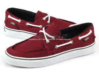 Vans Zapato Del Barco Tawny Port/Dark Shadow Canvas Casual Sneakers VN