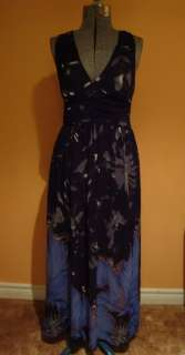 Forever 21 M Chiffon Maxi dress with glitter detail Open back