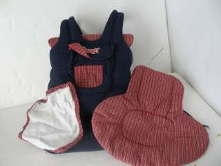 SNUGLI   Soft baby carrier by Evenflo backpack or front infant plaid