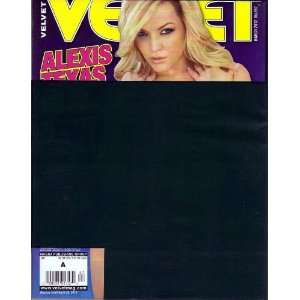VELVET MARCH 2012 ALEXIS TEXAS VELVET MAGAZINE Books