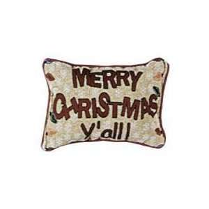 Set of 2 Merry Christmas Yall Decorative Holiday Throw