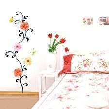 Lotus Flower & frog Wall Art Paper Decals Stickers J37