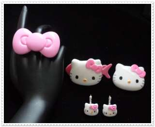 BIG HELLO KITTY Ring,Hair Clip,Earring,brooches EMO R2