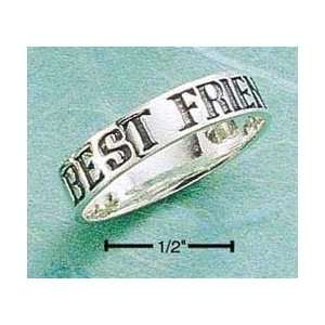 STERLING SILVER 4MM BEST FRIENDS FOREVER BAND Jewelry
