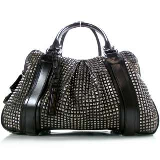 BURBERRY Prorsum Leather Knight Studded Tote Bag Purse