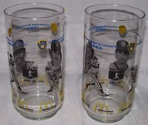 Brewers~McDonalds~1982~2 Glasses~Robin Yount~Paul Molitor~Ben Oglivie