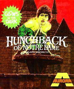 HUNCHBACK AURORA MONSTER MODEL HORROR MOVIE T SHIRT