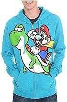 NWT Super Mario Green Yoshi Zipper Sweatshirt Hoodie