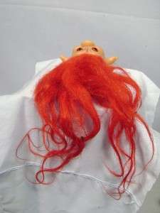 1960s DAM THINGS SMALL 2 3/4 TROLL DOLLS   BRIGHT RED HAIR
