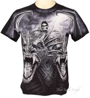 NEW ROCK EAGLE DEVIL DRAGON TATTOO T SHIRT METAL PUNK SIZE M