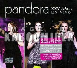 CD + 1 DVD PANDORA XXV Años En Vivo NEW 2011 Kalimba Flans Noel