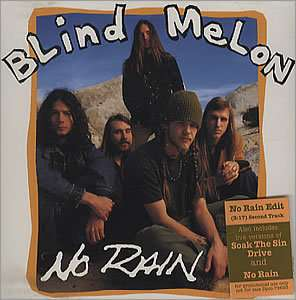 BLIND MELON No Rain (Scarce 1992 US 4 track promo)
