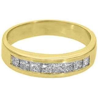 CARAT WOMENS PRINCESS SQUARE CUT DIAMOND RING WEDDING BAND YELLOW