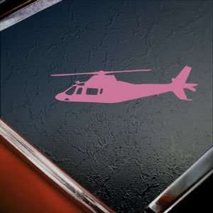 Agusta A109 Helicopter Pink Decal Truck Window Pink