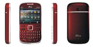 SIM QUAD BAND FM TV UNLOCKED GSM MOBILE CELL PHONE i6PRO RED