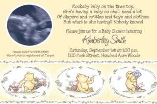 Winnie the POOH Baby Shower Invitations Boy or Girl