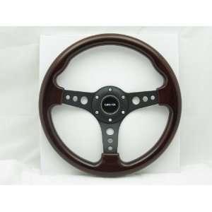 NRG Steering Wheel Classic Wood Grain Black Spokes 330 mm Part# ST 035