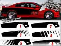 2012 2011 Dodge Charger Cuda Style Vinyl Decals CUSTOM