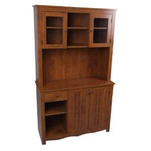 Home Source Industries Oak Hills Hardwood China Cabinet