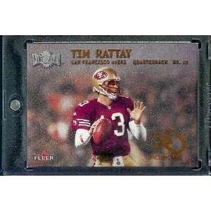 2000 Fleer Metal # 264 Tim Rattay Rookie San Francisco 49ers Football