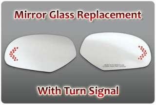 Passenger PS Right RH Red Light LED Turn Signal Mirror Side Glass GM