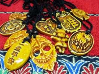 wholesale lots 60pcs tibet yak bone pendant&necklace