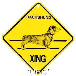 Dachshund Dog Crossing Xing Sign New