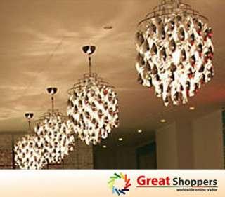 New Modern Crystal Ceiling Light Pendant Lamp Lighting Fixture (Silver